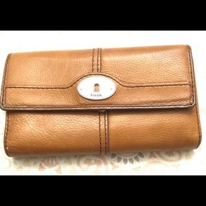 Fossil Brown Leather Organizational Wallet